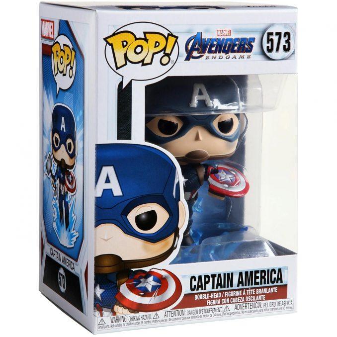 Funko Pop! Avengers: Endgame Captain America Mjolnir Figure Box
