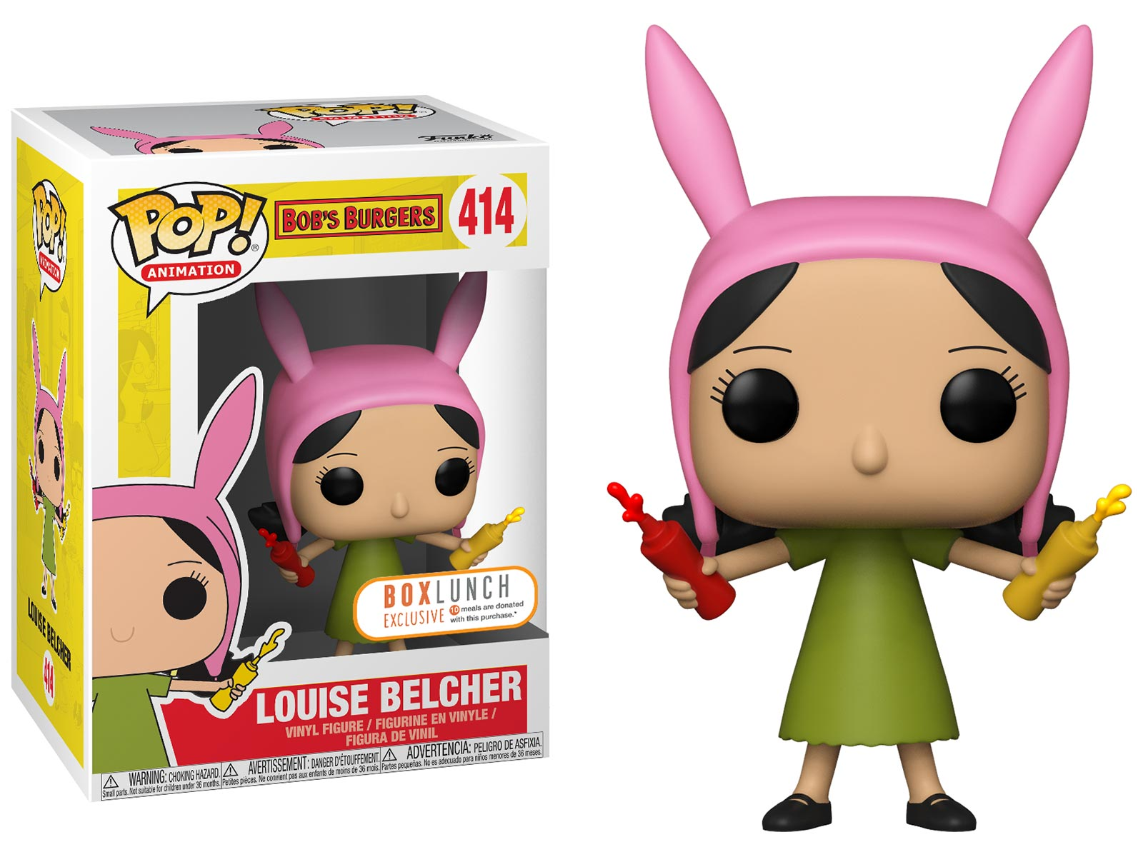 Funko Pop Bob S Burgers Louise Belcher With Condiments
