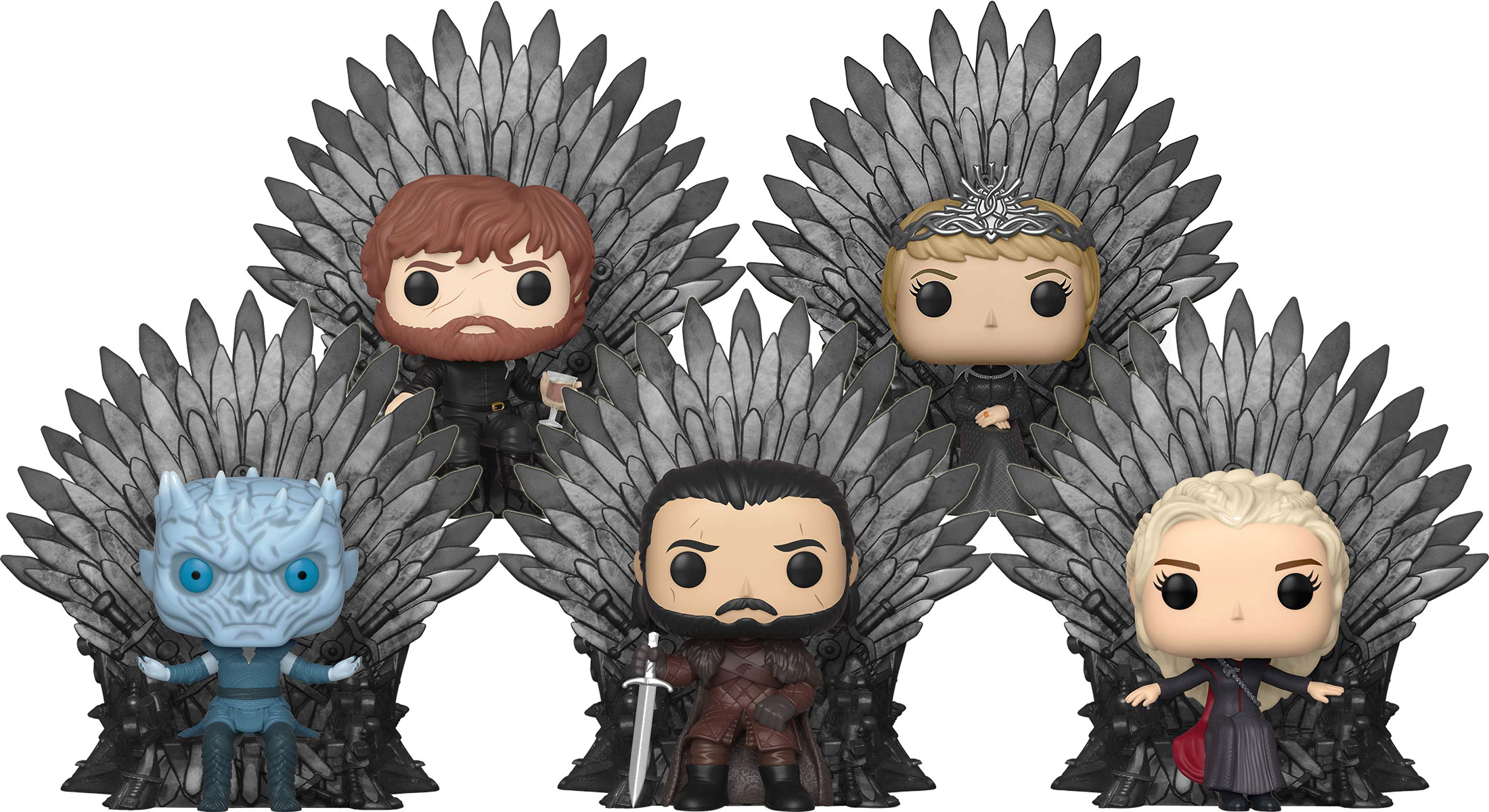 2019, Toy NUEVO Jon Snow Sitting On Iron Throne Funko Pop! Game Of Thrones