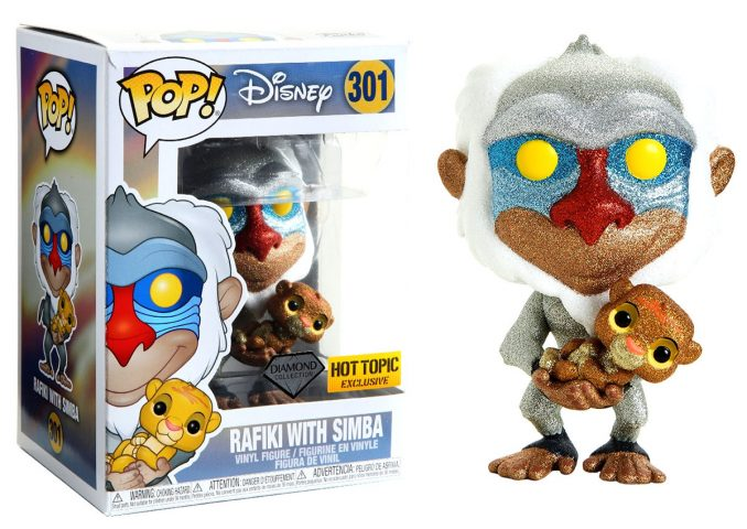 Funko Pop Lion King Diamond Collection Rafiki With Simba