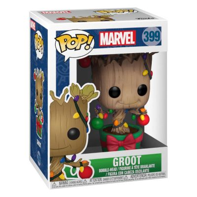 Funko Pop Marvel #399 Holiday Groot with Lights