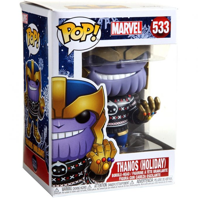 Funko Pop Marvel 533 Thanos Holiday Sweater Figure