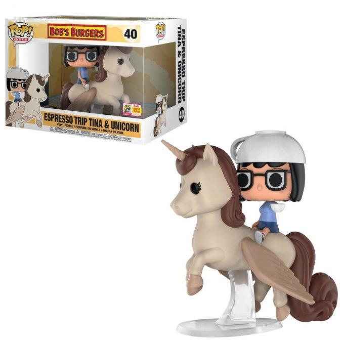 Funko Pop! Rides Bob's Burgers Espresso Trip Tina & Unicorn