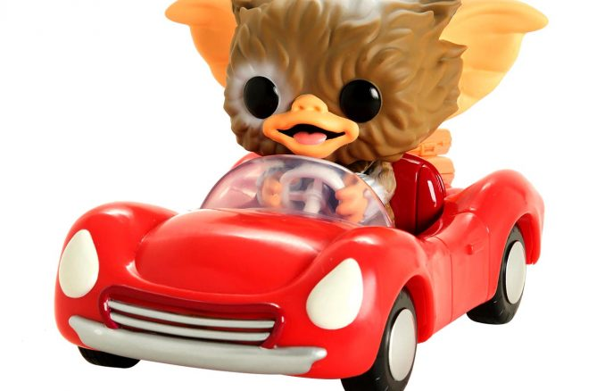 Funko Pop Rides Gremlins Gizmo In Red Car