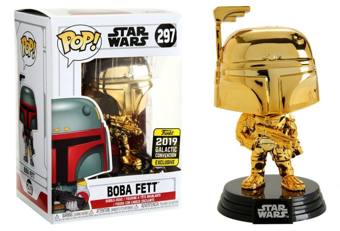 Funko Pop Star Wars Boba Fett Chrome Galactic Convention Exclusive