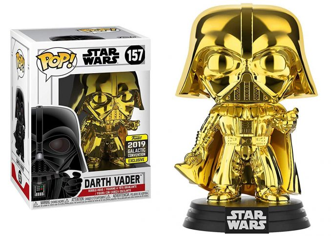 Funko Pop Star Wars Darth Vader Gold Chrome Galactic Convention Exclusive