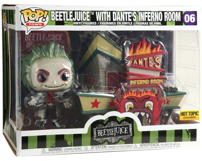 Funko Pop Town Beetlejuice With Dantes Inferno Room Box