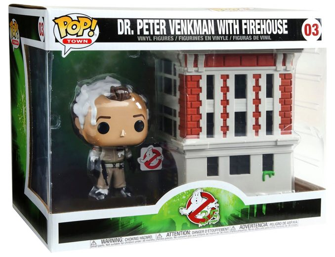 Funko Pop Town Ghostbusters Dr Peter Venkman with Firehouse