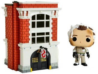 Funko Pop Town Ghostbusters Venkman with Firehouse