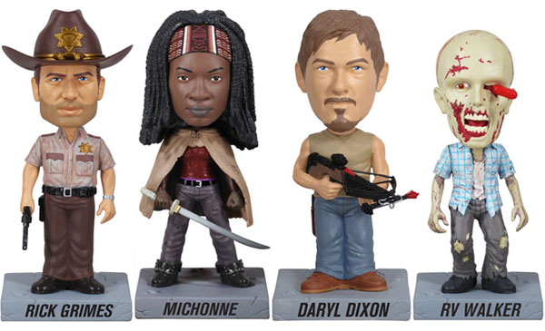 Funko Wobblers AMC's Walking Dead Set of 4