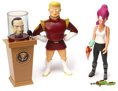 Futurama Animated Comedy Series Action Figures Leela and Zapp