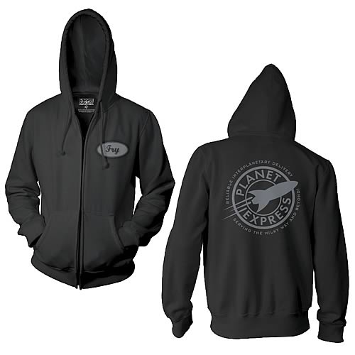 Futurama Planet Express Fry Zip-Up Hoodie