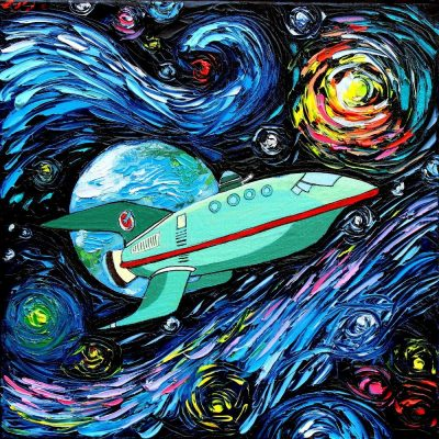 Futurama Starry Night Mash-Up