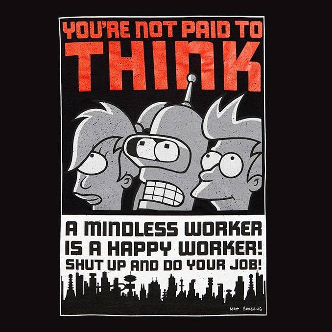 you re not paid to think futurama poster 2 iphone case