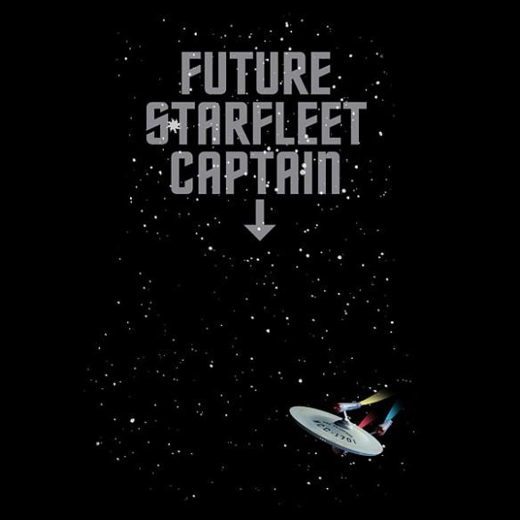 Future Starfleet Captain Ruched Maternity Tee