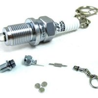 G-Flare Super-Bright Aluminum LED Spark Plug Key Chain