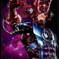 Galactus Maquette with Silver Surfer