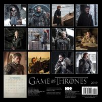 Game of Thrones 2019 Wall Calendar Back