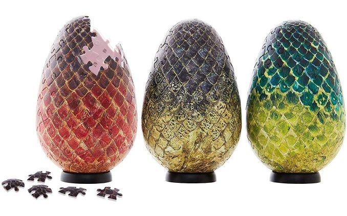 Game of Thrones 3D Dragon Egg Puzzle Set