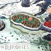 Game of Thrones 3D Map of Westeros Puzzle Set