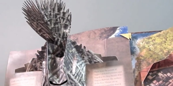 Game Of Thrones A Pop Up Guide To Westeros Iron Throne
