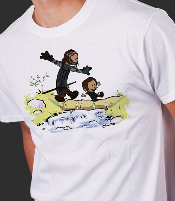 Game of Thrones Arya and The Hound T-Shirt