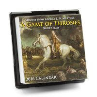 Game of Thrones Book Series 2016 Desk Calendar