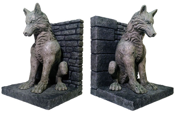 Game of Thrones Bookends DireWolves