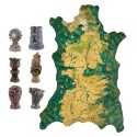 Game of Thrones Carved Map Marker Set with Map of Westeros