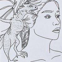 Game of Thrones Coloring Book - Daenerys and dragon