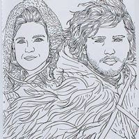 Game of Thrones Coloring Book - Ygritte and Jon Snow