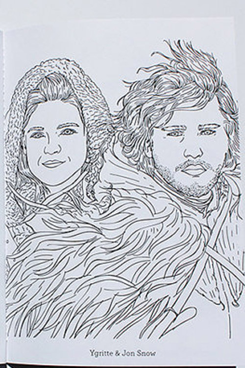 game of thrones coloring book ygritte and jon snow - Game Of Thrones Coloring Book