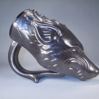 Game of Thrones Dire Wolf Drinking Horn Right Side