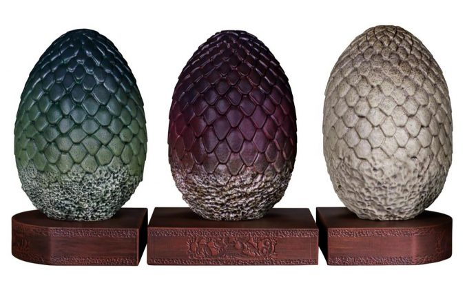 Game of Thrones Dragon Egg Bookends Set