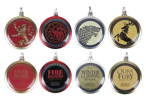 Game of Thrones House Crest Ornament 4 Pack