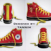 Game of Thrones House Lannister Converse Chucks