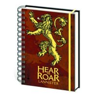 Game of Thrones House Lannister Notebook