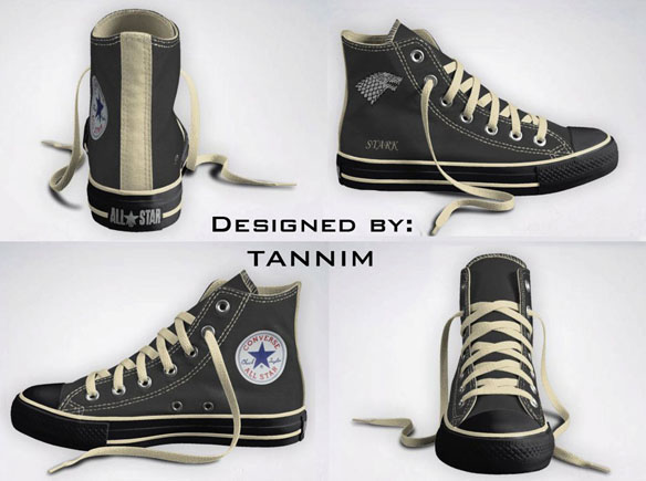 Game of Thrones House Stark Converse Chucks