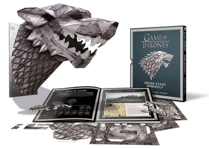 Game of Thrones House Stark Direwolf Paper Mask Book