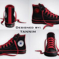 Game of Thrones House Targaryen Converse Chucks