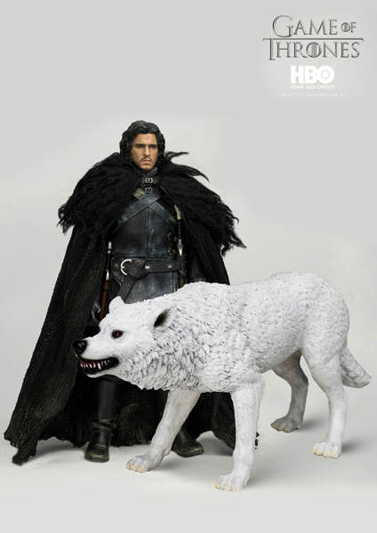 Game of Thrones Jon Snow Figure with direwolf Ghost