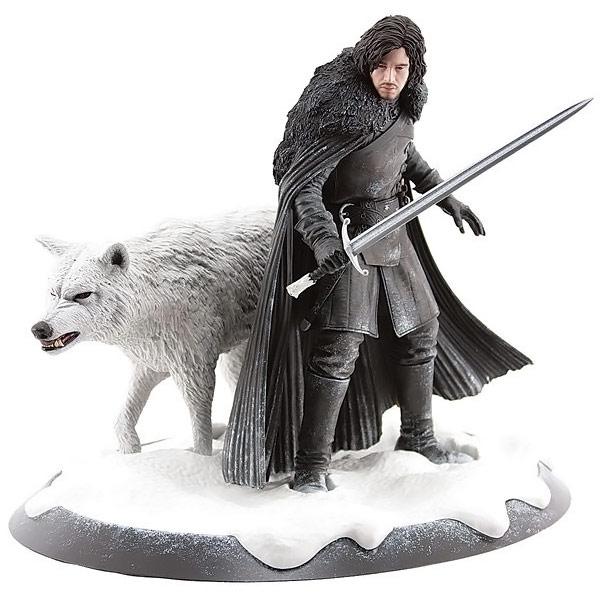 Game of Thrones Jon Snow and Ghost Statue