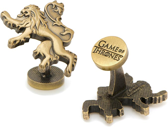 Game of Thrones Lannister Lion Sigil Cufflinks