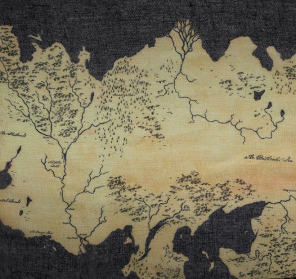 Game of Thrones Map Print Infinity Scarf