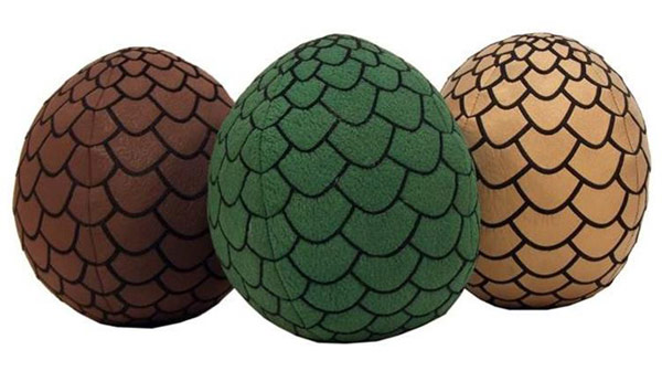 Game of Thrones Plush Dragon Egg Set