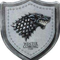 Game of Thrones Stark House Crest Wooden Plaque