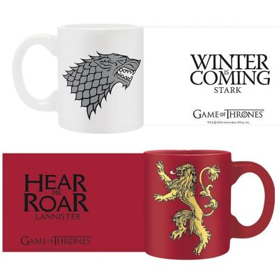 Game of Thrones Stark Lannister Espresso Mugs