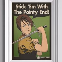 Game of Thrones Stick 'Em With The Pointy End Arya Stark Poster