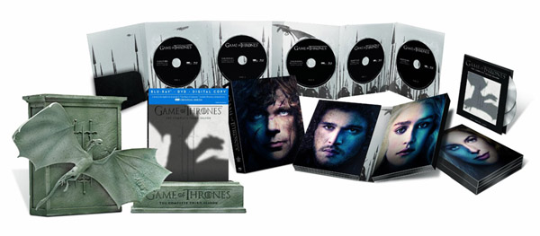 Game of Thrones Third Season Limited Edition Bluray DVD Combo Digital Copy