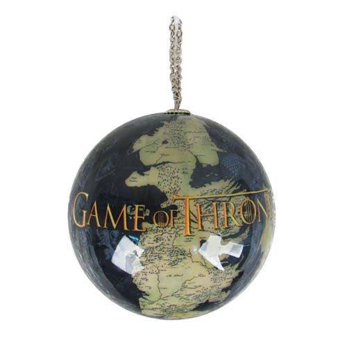 Game of Thrones Westeros Map Ball Ornament
